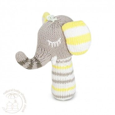 Finn + Emma Mini Rattle - Piper the Elephant www.naturalbabyshower.co.uk/finn-emma-mini-rattle-piper-the-elephant.html