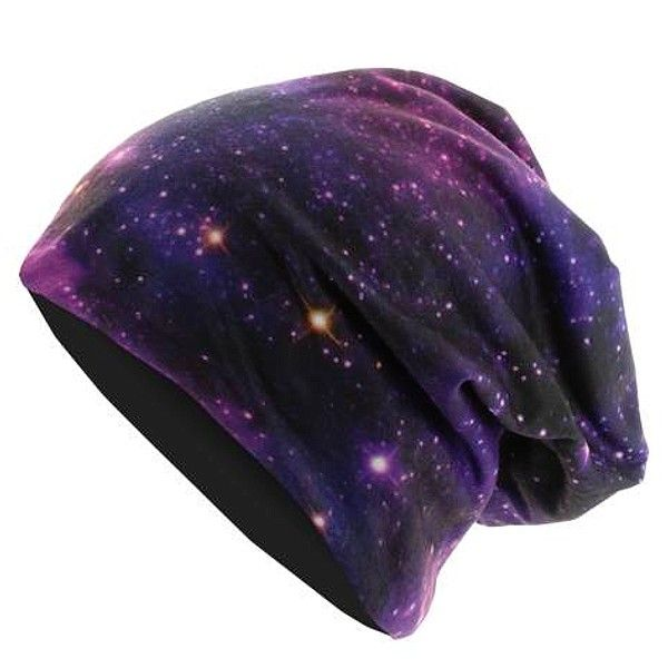 THIS IS A GALAXY PRINT BEANIE IT IS EVERYTHING I LOVE IN ONE HIPSTER ACCESSORY