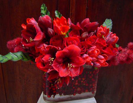 Ruby Red Floral Arrangement