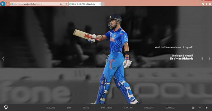 World #cricket star and captain of the Royal Challengers Bangalore franchise in the Indian Premier League, launched his new official website at ViratKohli.club.   Fans of Virat (also known as Viratians) can now visit the new site for updated weekly tips and training videos, stats, a photo gallery, a timeline with live social media feeds and more. http://nic.club/cricket-superstar-virat-kohli-launches-viratkohli-club/