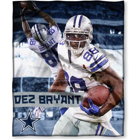 NFL Players Association Dez Bryant 50 inch x 60 inch Dallas Cowboys Players High Definition Silk Touch Throw, Multicolor