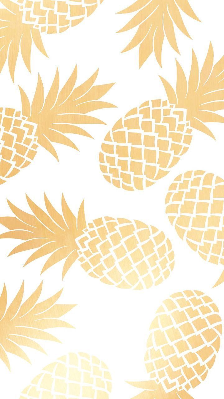 White Gold Ovo Pineapple Wallpaper Gold Pineapple Wallpaper Cute Pineapple Wallpaper