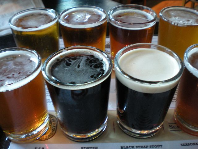 Yum. I love exploring the offerings of a new brewery via samples.