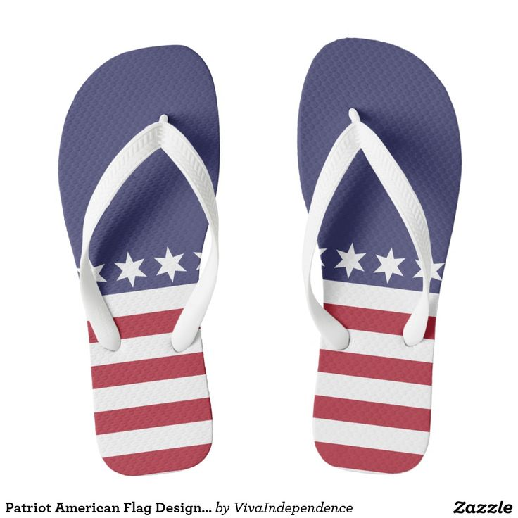 Patriot American Flag Design Summer Flip Flops