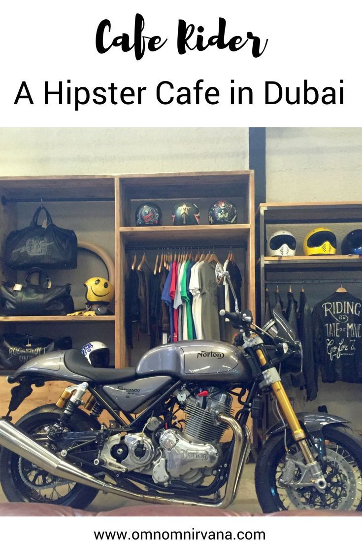Cafe Rider is a hidden gem in Dubai known for its organic coffee and motorcycle décor. This is a great hipster cafe in Dubai full of delicious food, amazing coffee, and a hip atmosphere. Save the Cafe Rider restaurant review to your travel board so you can check it out when you're in the area.
