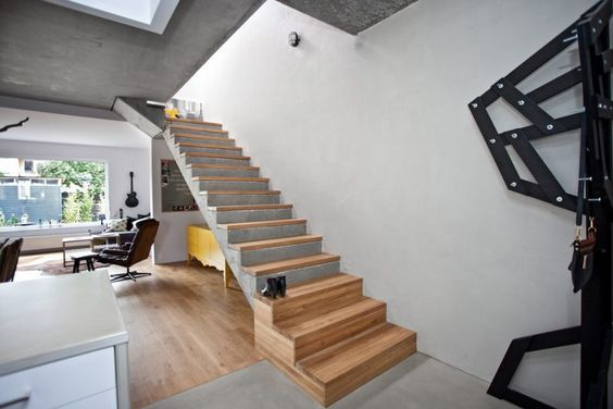 betontreppe versch nern robust im innen wundersch n im au en treppe pinterest tages. Black Bedroom Furniture Sets. Home Design Ideas