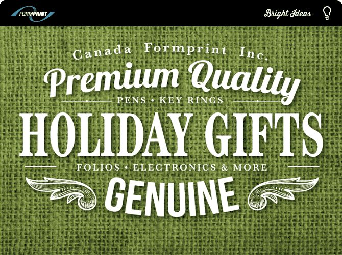 Formprint Holiday Gift Item Email Blast