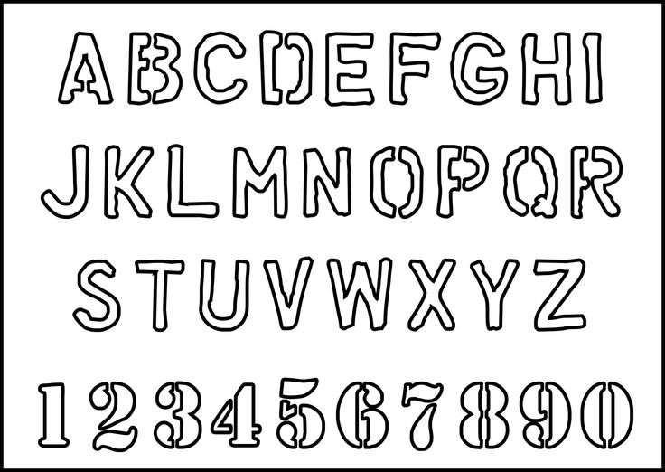 Best  Alphabet Stencils Ideas On   Free Letter