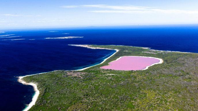 """Pink lake Hillier, West- Australien. Das ist absolut unglaublich !!! Seit den 1800er Jahren ist es rosa. Es sollte auf dieser Liste von """"Natural Wonders Of The World"""""""