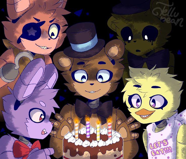Картинки фнаф с днем рождения