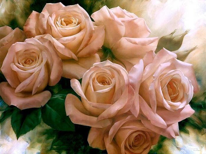 Внуку года, красивые открытки чайная роза