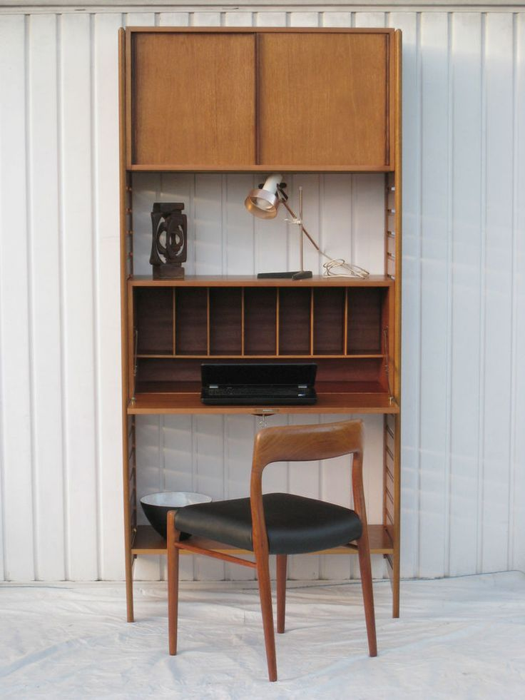 Image result for desk with shelves above ladderax