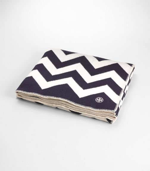 Tory Burch chevron blanket