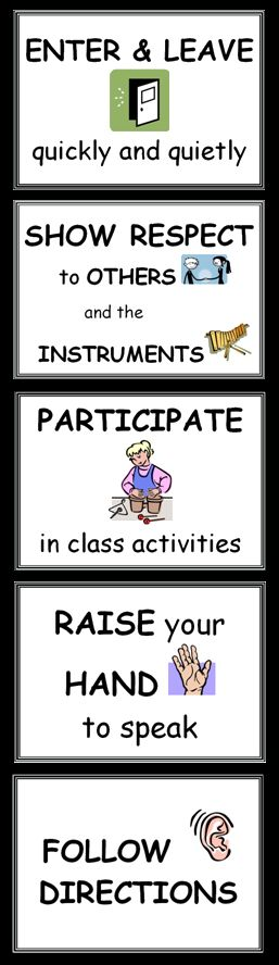 Classroom Management Idea - Star Musicians Classroom Expectations