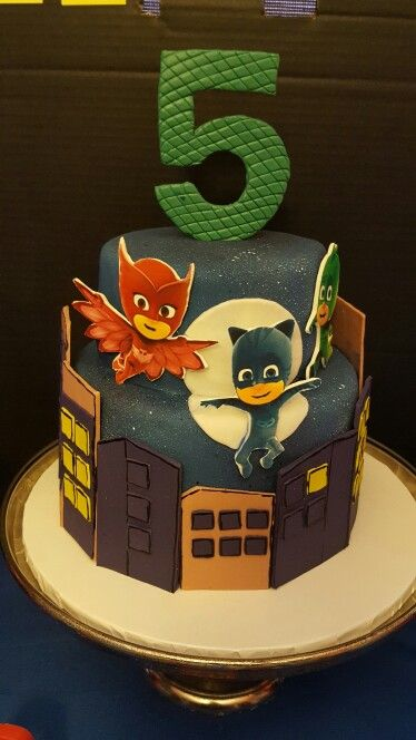 PJ Masks themed cake inspired by Sweet Treats by Christina