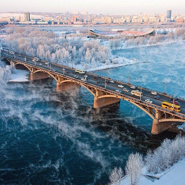 Krasnoyarsk in winter, Russia