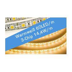 LED Streifen Warmweiß 60 LED/m 3C