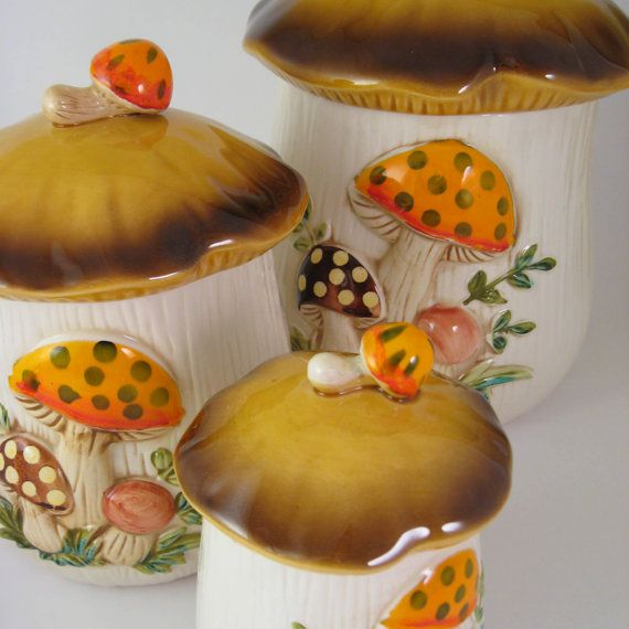Sears Merry Mushrooms Canister Set