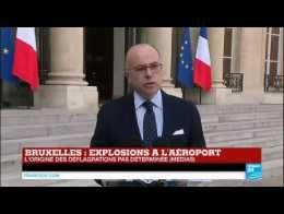 Attentats de Bruxelles : Bernard Cazeneuve annonce le déploiement de forces de police supplémentaires