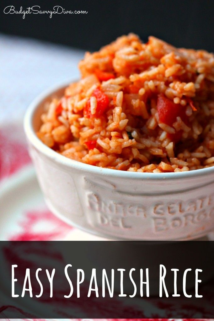 The easiest and BEST Spanish Rice Recipe. Gluten - Free and Done in 30 minutes!