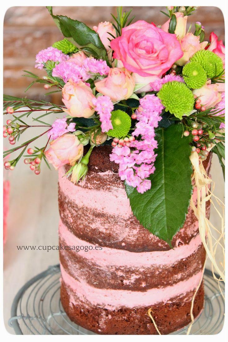"Cupcakes a gogó: Modo San Valentín ""ON"" ...quiera o no quiera!!: ""Naked cakes""y SMBCreceta!!!!!!!!!"