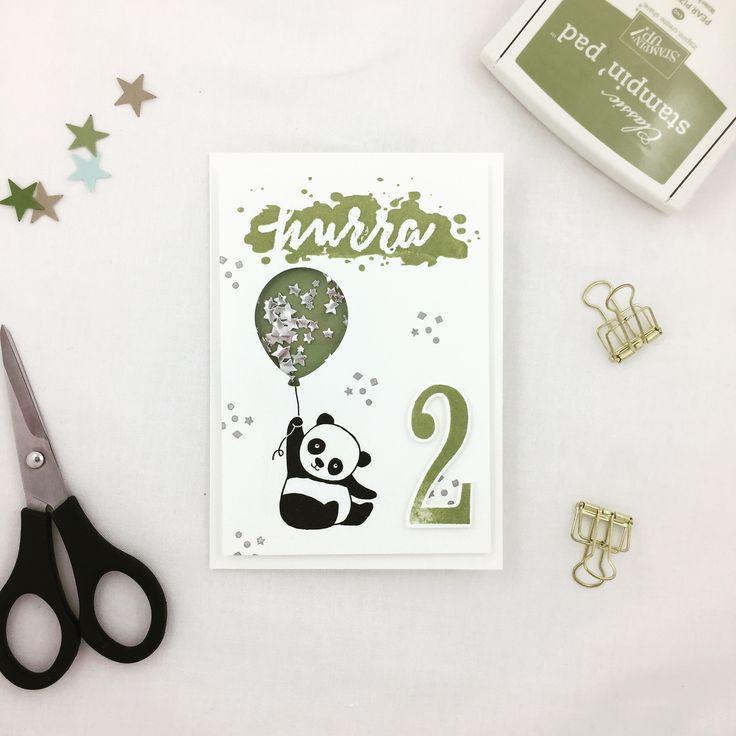 Eine Geburtstagskarte zum 2. Geburtstag mit den Party-Pandas von Stampin' Up!