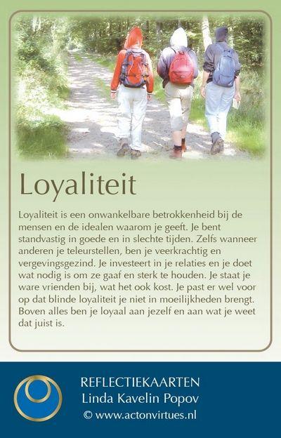 deugdenkaart loyaliteit actonvirtues