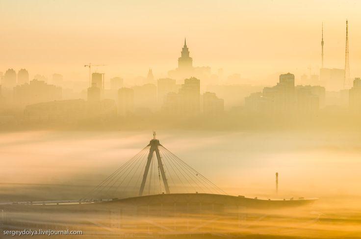 Туманный рассвет в Крылатском - Страница Виртуальных Путешественников