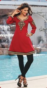 Show details for Romantic Red Stunning Kurti