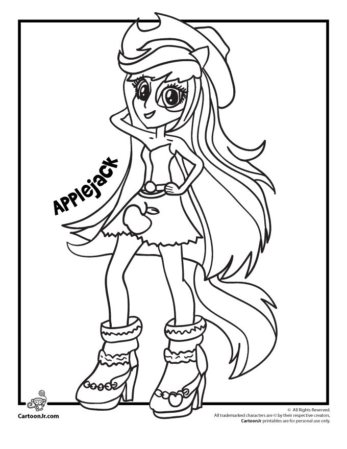 Applejack Coloring Page See More