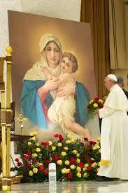 El papa Francisco ante la imagen de la Mater Ter Admirabilis de Schoenstatt, Vaticano 2014