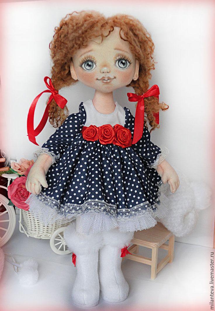 Купить Сонечка.Текстильная кукла. - белый, кукла ручной работы, кукла, кукла в подарок
