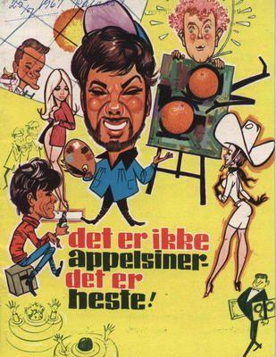 Det er ikke appelsiner det er heste eller Fup eller fakta (1968) 3 kunstnere bliver enige om at en af dem skal dø, for at de andre kan leve af det.