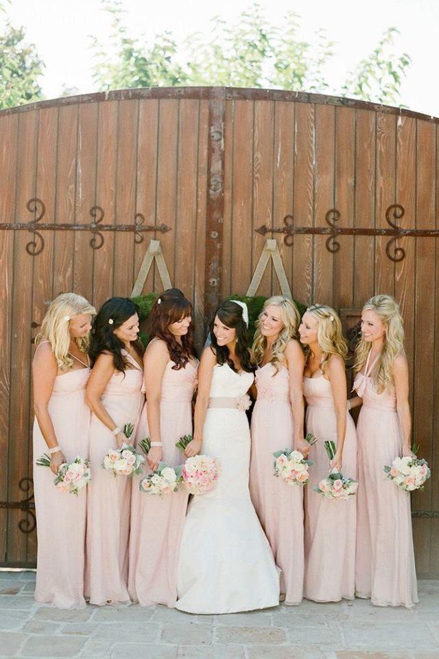 25  best ideas about Pale pink bridesmaids on Pinterest | Pale ...