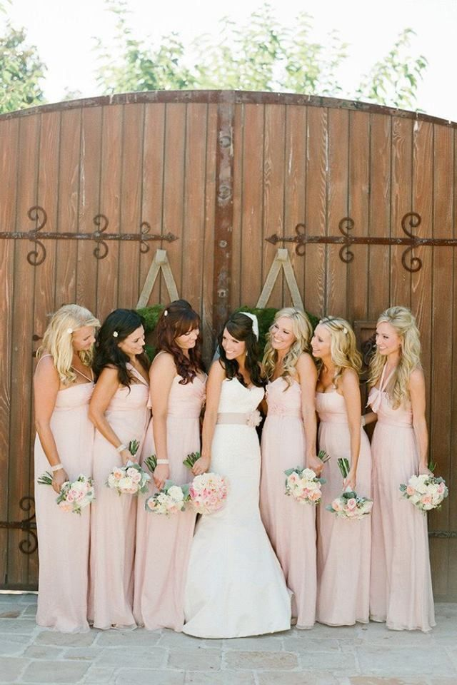 Blush Wedding Dress Bridesmaids : Pale pink bridesmaid dresses wedding