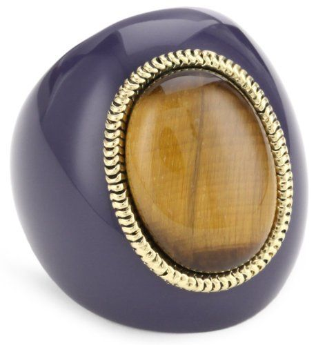 Belle Noel Purple Resin Ring with Tiger Eye Cabochon Belle Noel. $24.99. Made in CN. 14kt yellow gold snake chain bezel trim. Made in China