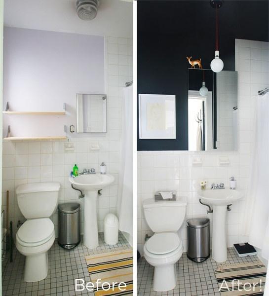 Navy Blue Paint White Tile Bathroom Google Search