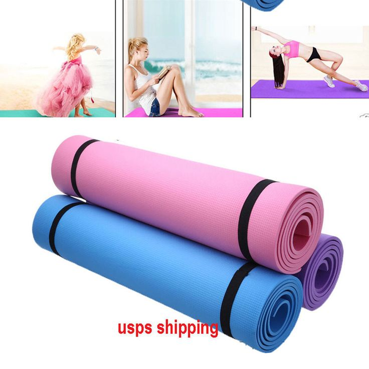 Portable Yoga Mat Fitness Exercise Pad 6MM Thick Non-slip Gym Pilates Supplies  | Sporting Goods, Fitness, Running & Yoga, Yoga & Pilates | eBay!