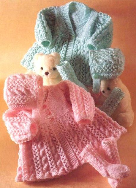 Prem Baby Reborn or Baby Doll Matinee Coat Bonnet by GeoKnits, £0.99
