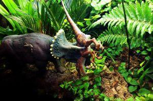 Triceratops winning :)    Jurassic Park Diorama by Katie9999