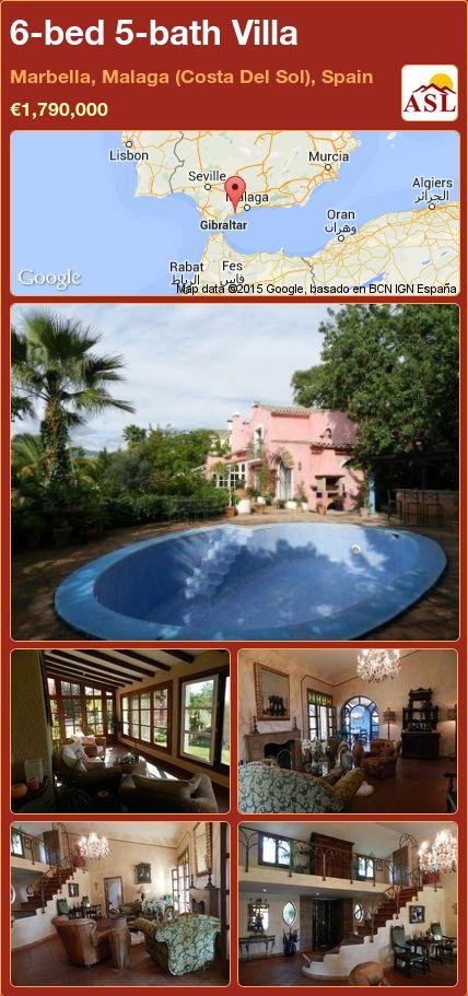 6-bed 5-bath Villa in Marbella, Malaga (Costa Del Sol), Spain ►€1,790,000 #PropertyForSaleInSpain