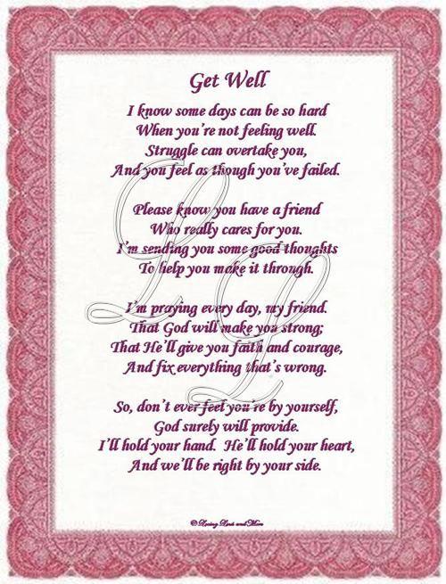 Get Well Poem