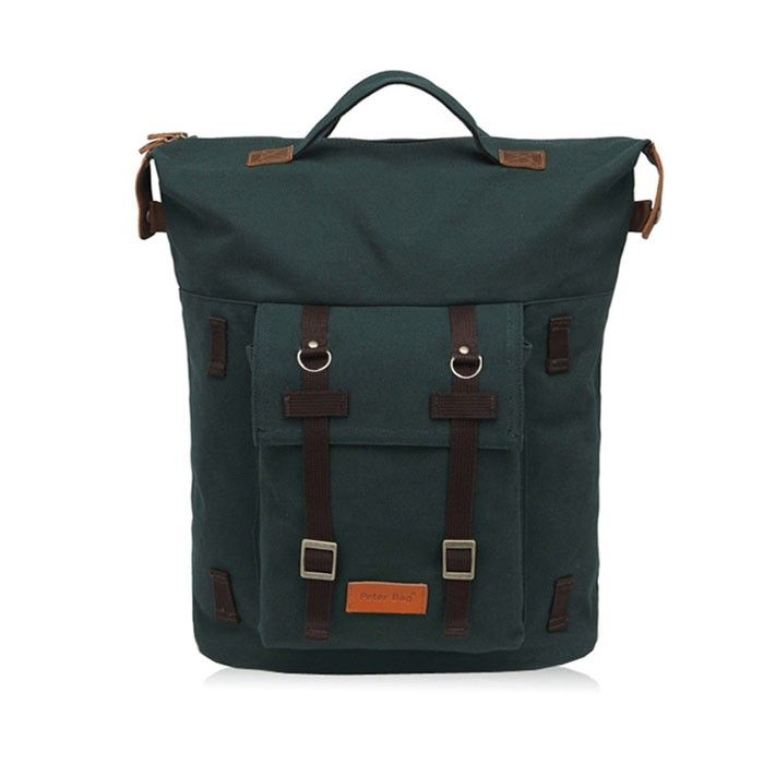 [Peter Bag] A.P.O Big Canvas Backpack - Forest Green - A.P.O Backpack is strong and stylish.   Brand 'Peter Bag' Peter Bag is the Shibuya Style-inspired casual backpack brand which has been launched in Japan, 1996.