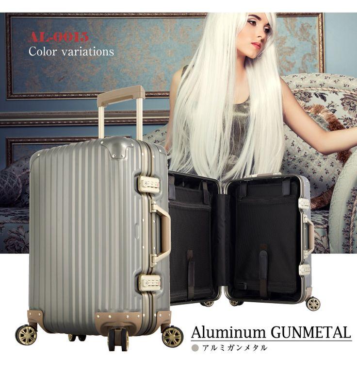 【楽天市場】アルミスーツケース 小型サイズ スーツケース キャリーケース キャリーバッグ【送料無料・あす楽対応・3年間保証】 旅行用品 旅行かばん 10P09Jul16:スーツケース専門店FKIKAKU