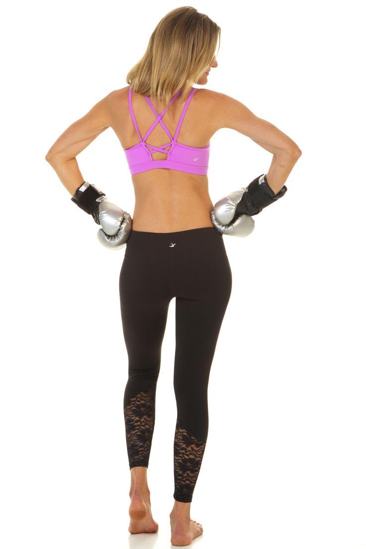 lavender Paradise bra with black Jazzy lace legging