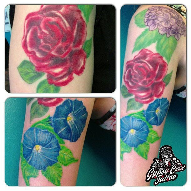 Vintage Victorian Floral Tattoo by Gypsy Cece | Tattoos by