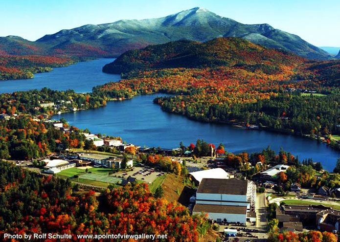 Adirondack Mountains of New York--that's  a beautiful drive--home of Lake Placid and the 1980 Olympics