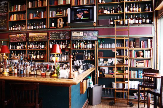 The Bookstore Bar at The Alexis Hotel, Seattle. Um, we really need to go to Seattle...