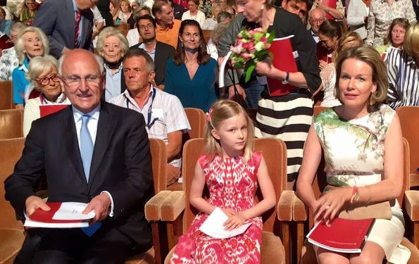 Newmyroyals: Queen Mathilde and her youngest daughter Princess Eléonore attended the semi-final session of the Queen Elisabeth Piano Competition, Brussels, May 9, 2016