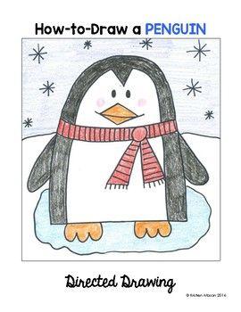 Reindeer, Polar Bear, Penguin Directed Drawing